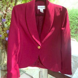 Gorgeous Bloomingdales dark raspberry/wine blazer